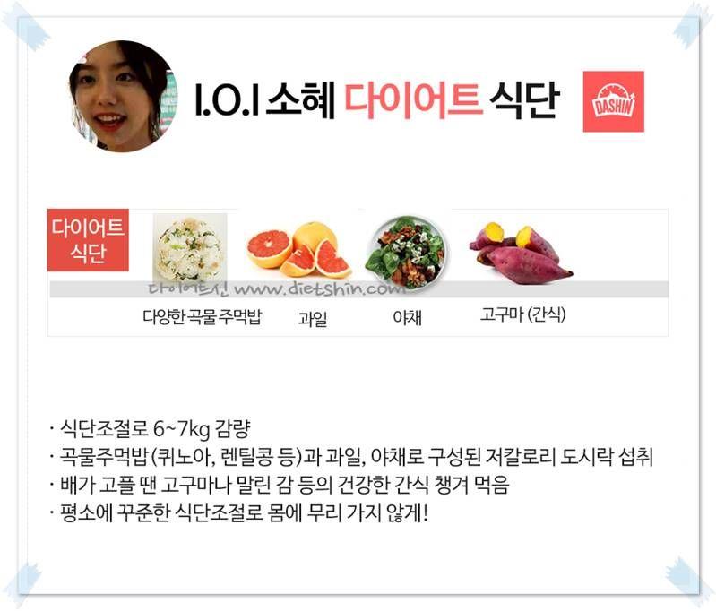 I.O.I 소혜 다이어트 식단(곡물주먹밥+건강간식)
