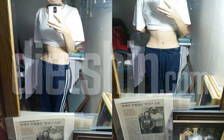 운동으로 식욕극복하며 40kg대 진입 성공!
