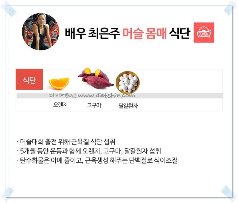 배우 최은주, 머슬퀸으로 변신시킨 식단!