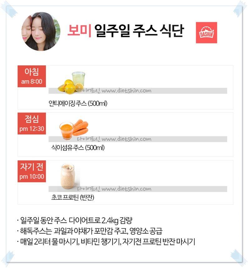 에이핑크 보미 일주일 주스 다이어트!