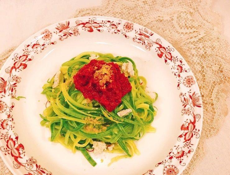 애호박으로 만드는 `토마토 파스타`!