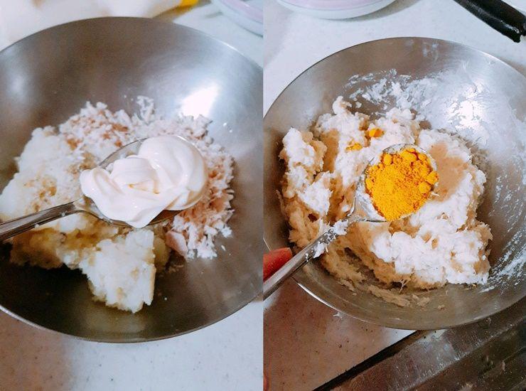 식감 좋은 `닭가슴살 감자 고로케`!
