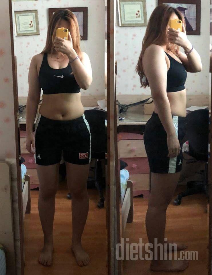 9.4kg감량, 옆구리와 복부, 다리라인 완벽 변신!
