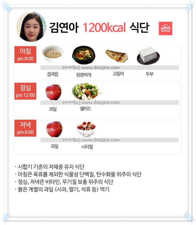 김연아 선수 몸매 관리 식단, 대공개!