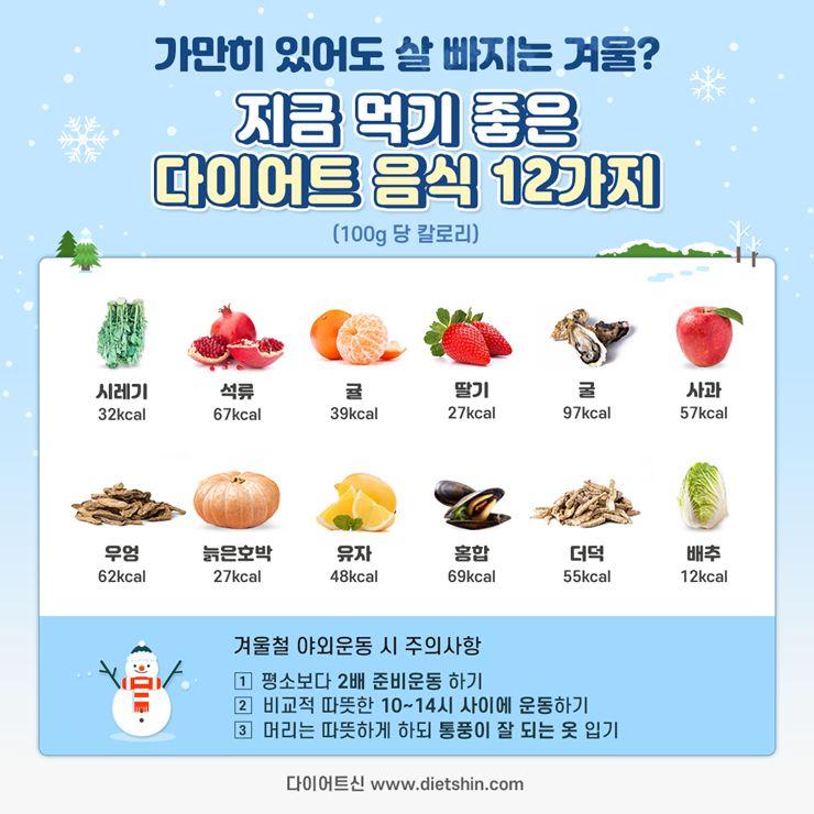 사실 다이어트는 여름보다 겨울이 제철이다?!