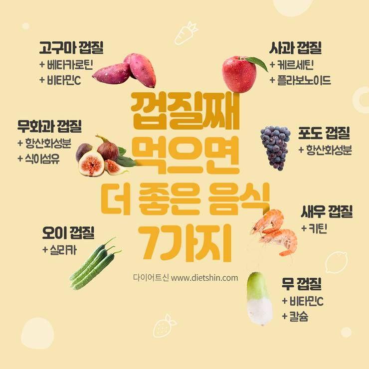 껍질째 먹으면 더 좋은 식재료 7가지는?