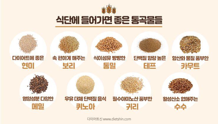 통곡물, 왜 먹어야 할까요?