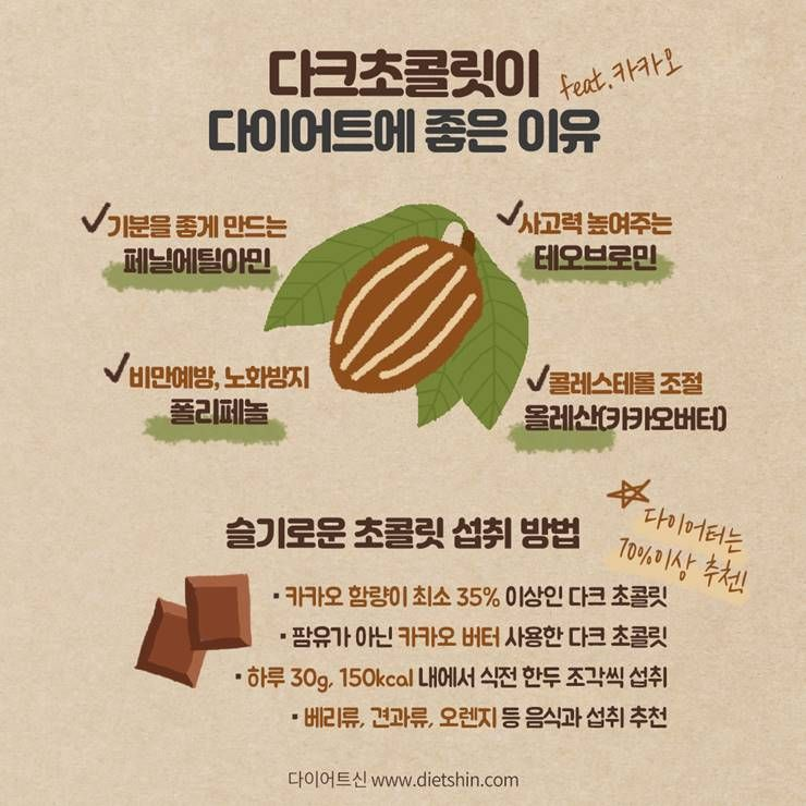 초콜릿, 카카오 함량 높을수록 좋다?!