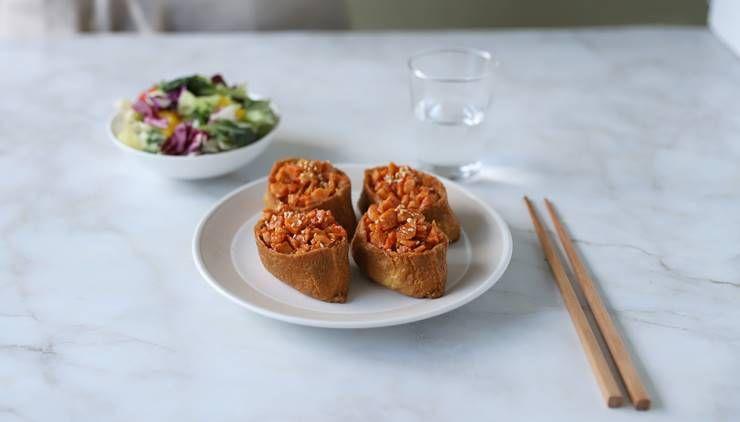 밥없이 만드는 닭강정맛 유부초밥!