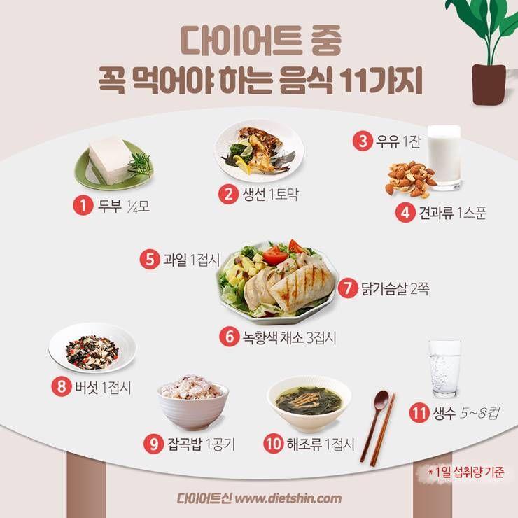 다이어트 식단에 꼭 넣어야 할 음식 11가지!