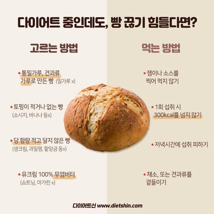 당신을 살 덜찌게 할 `빵` 먹는 팁!