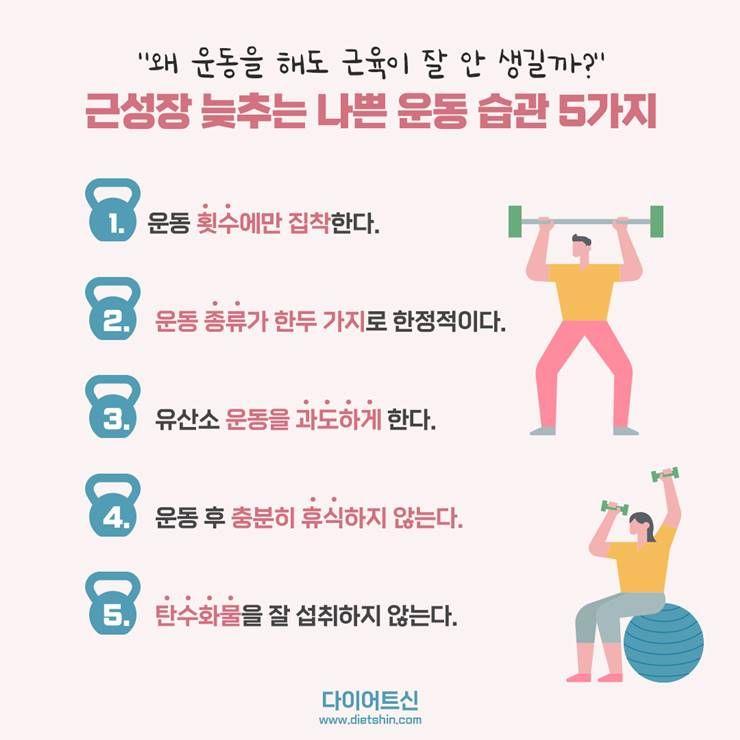 운동해도, 근육이 잘 안 생겨서 고민이라면?