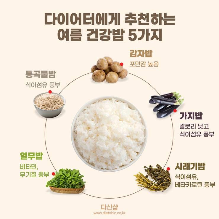 다이어터도 먹을 수 있는 여름 건강밥 5가지는?